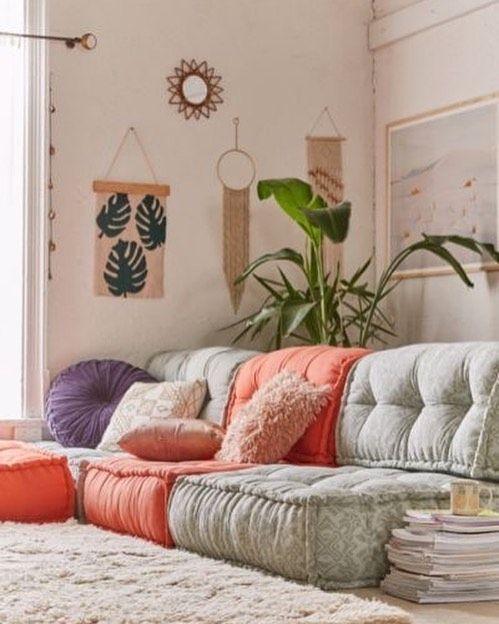 Inspiracao Www Ideiasemcasa Com Br Inspiracao Decoracao Decor Boho Instadecor Decorating Idei In 2020 Floor Couch Bedroom Furniture Design Reema Floor Cushion