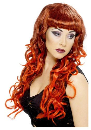 Red and Black Siren Wig