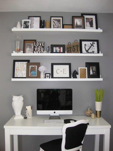 Love the shelves to the ceiling above a desk, diy shelves & desk... basic idea for my room: