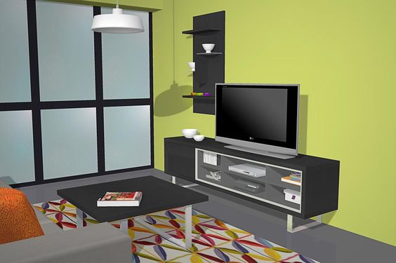 Salón comedor moderno con los muebles en color negro | SALON COMEDOR ...