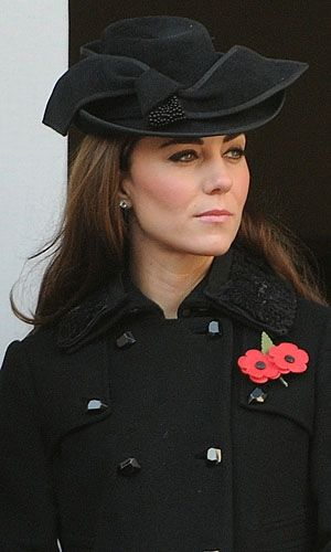 Duchess of Cambridge attends Remembrance Sunday (16 Nov 2011) at the Cenotaph wearing DvF coat and a Jane Corbett Hat. #passion4hats:
