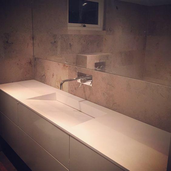 Badrum badrum kalksten : Bänkskiva badrum, kuma, gjutmarmor, tapwell, kalksten ...