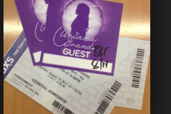 Ariana grande concert tickets!!!!!
