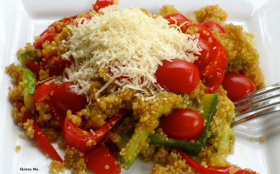 Quinoa with Roasted Vegetables!! GREAT recipe! #skinnyms