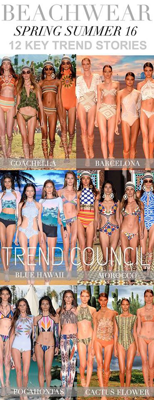 TRENDS // TREND COUNCIL . BEACHWEAR S/S 2016: