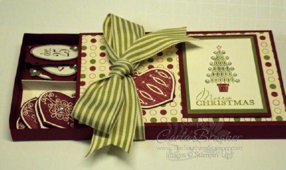 Stampin Up Tags Til Christmas gift set: Tags Gift Cards, Christmas Tags Gift, Craft Ideas Cards Scrapbooking, Papercraft Tutorials, Christmas Card, Christmas Gift, Papercraft Gifts