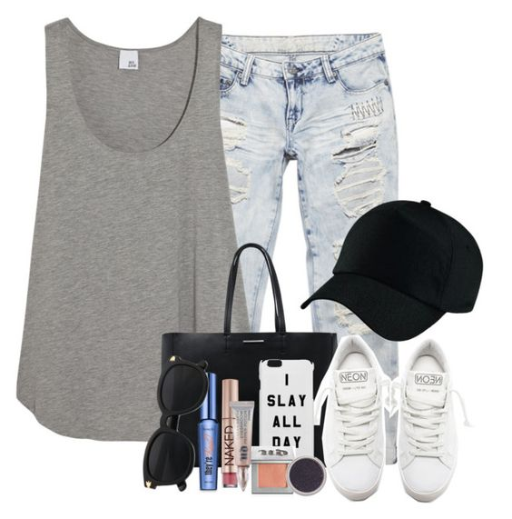 """QOTD: What's your favorite singer?"" by heyitsfashixn ❤ liked on Polyvore featuring Wet Seal, Iris & Ink, MANGO, Golden Goose, Urban Decay, Bare Escentuals and Benefit"