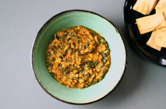 Dal-Palak (Lentils and Spinach) – Makes 4-6 servings.
