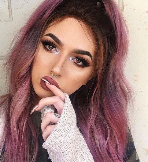 Pin By Tink Sim On Hair Unnatural Hair Color Hair Color For