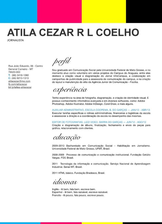 personal resume for 2013 designed entirely in adobe