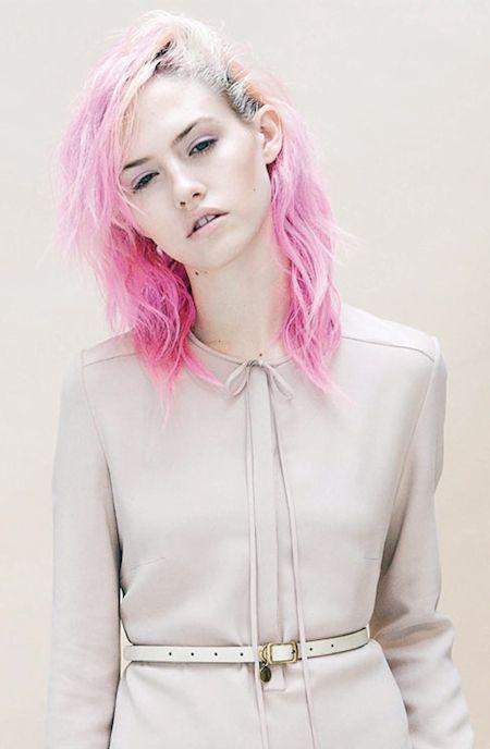 Charlotte Free pink hair