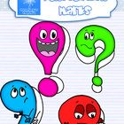 This set includes colored and line art images with faces that EXPLAIN the punctuation, for: -an exclamation point with an excited look -a period th...