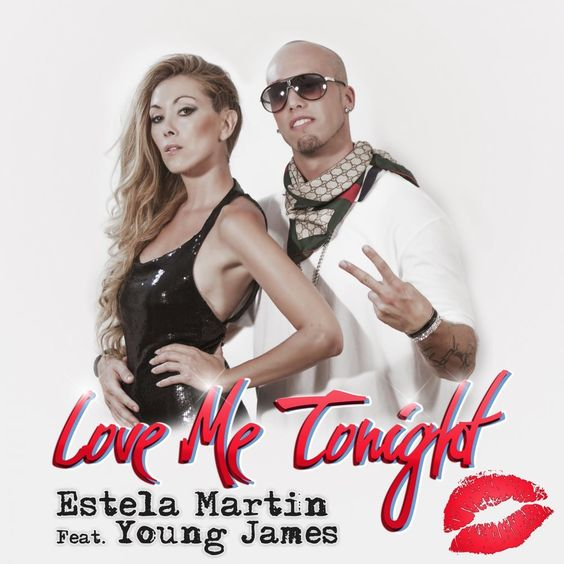 Estela Martin, Young James – Love Me Tonight (single cover art)