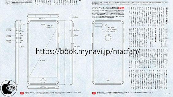 Aufschlussreiche Zeichnungen: Ist das das iPhone 7 Pro?