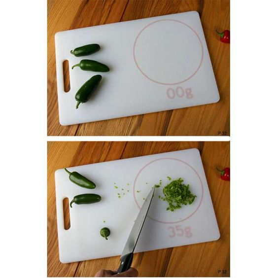Integrated Cutting Board and Scale... so cool! #gadgets
