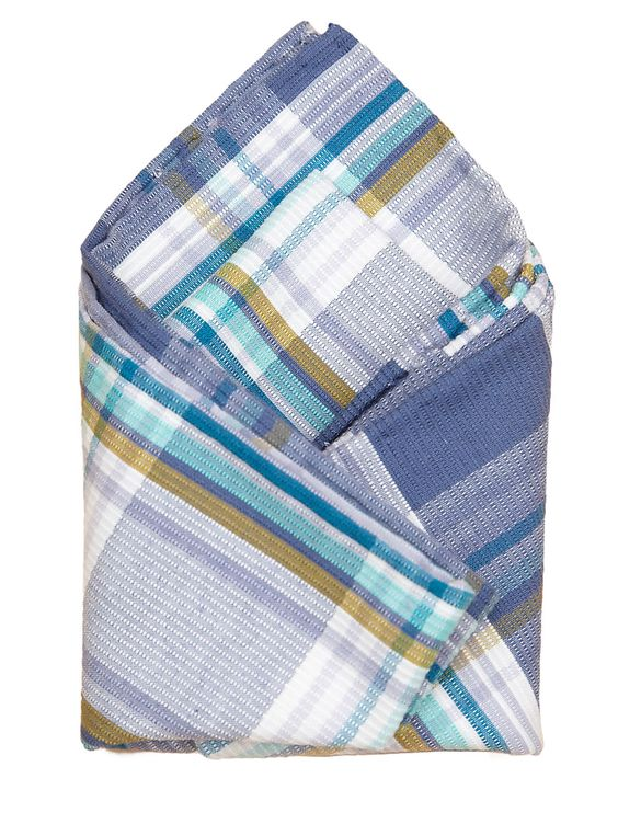 MONTAUK PLAID POCKET SQUARE - Original Penguin