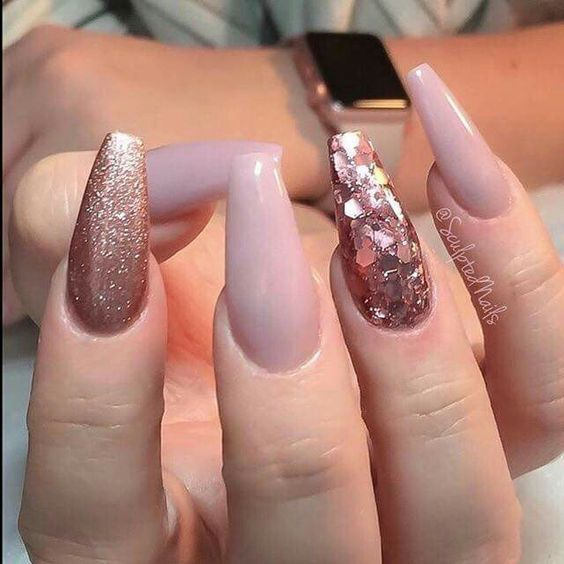 55 Acrylic Coffin Nail Designs For Fall And Winter Awimina Blog Sculpted Nails Gorgeous Nails Pretty Nails