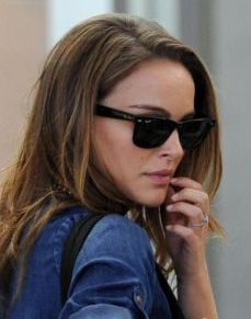ladies ray ban wayfarer sunglasses  natalie portman ray ban wayfarers sunglasses black rb2140