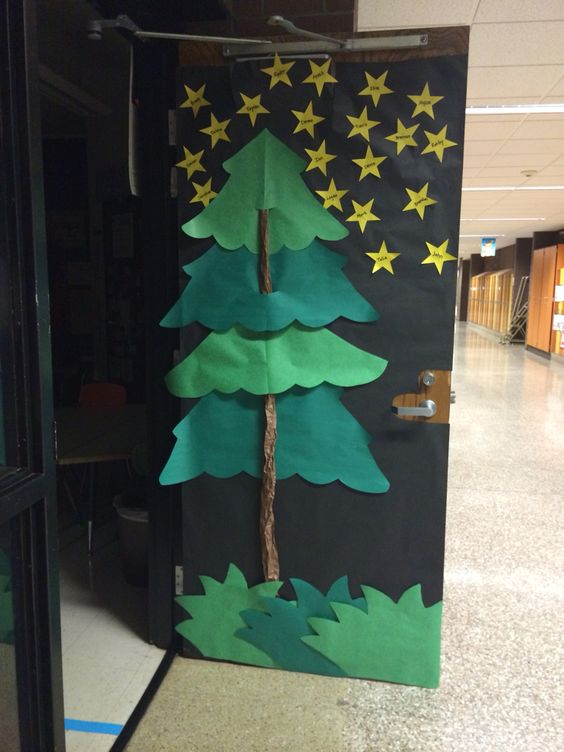 Forest Themed Classroom Decorations ~ Camping theme classroom door a class full of star campers