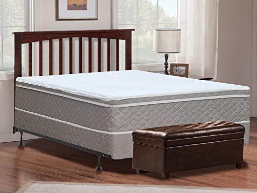 Mayton 10 Quot King Size Mattress Box Spring And Frame Pillow Top Euro Top Natural Sleep Solution Soft And Queen Mattress Size Mattress Bed Frame Assembly