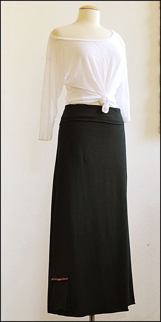 Pretty Ditty: Maxi Skirt with Accordion Pocket