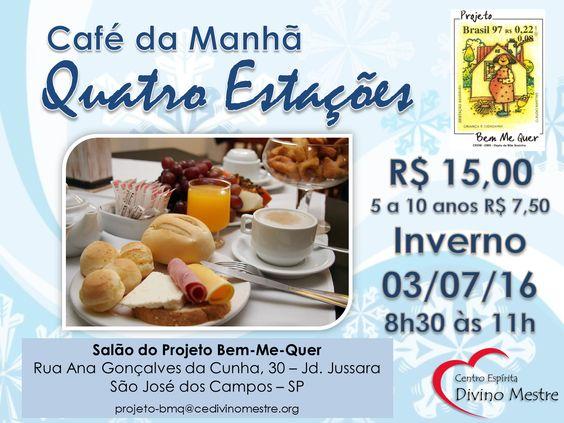 Café da Manhã do Projeto Bem Me Quer - São José dos Campos-SP - http://www.agendaespiritabrasil.com.br/2016/06/26/cafe-da-manha-do-projeto-bem-me-quer-sao-jose-dos-campos-sp/
