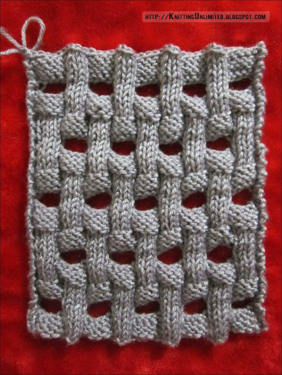 Openwork Basket Weave Knitting Pattern (Knitting Unlimited) Knits, Stitches...