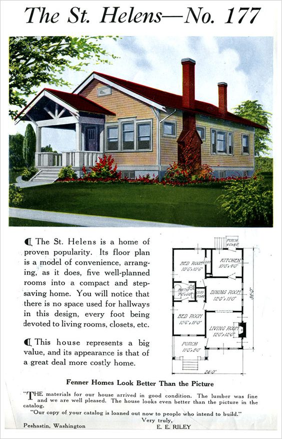 St helens 1921 ready built house company by fenner for Ready built homes floor plans