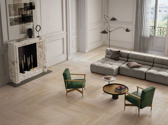 Revestimiento de pared/suelo de gres porcelánico imitación madera para interiores ELEMENTS NATURAL IVORY Colección Elements Natural by CERAMICHE KEOPE