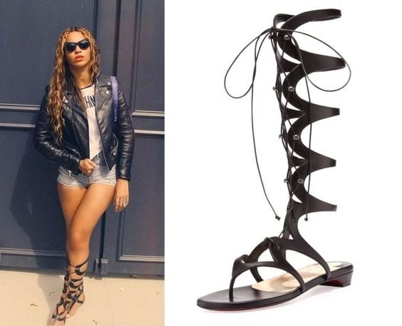 christian louboutin gladiator flat sandals