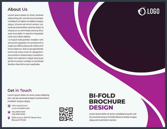 تحميل Bi Fold Brochure Design مجانا In 2020 Brochure Psd Brochure Template Brochure