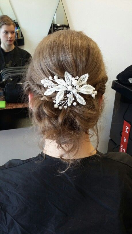 Back view of braided updo