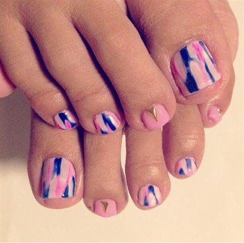 tye dye nail by ling811 - Nail Art Gallery http://nailartgallery.na... by Nails Magazine http://www.nailsmag.com #nailart