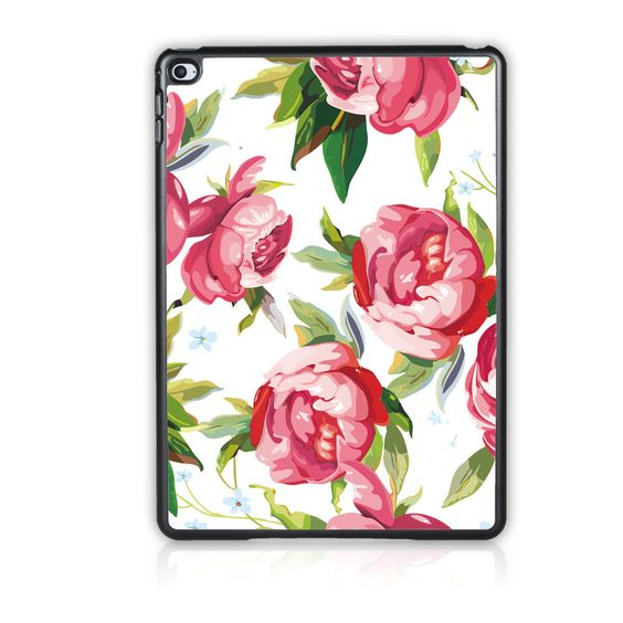 Case Cover For Apple ipad 2 3 4 oil painting small floral prints Rose Case For ipad 4 3 2 Tablet Case Cover DIY Support