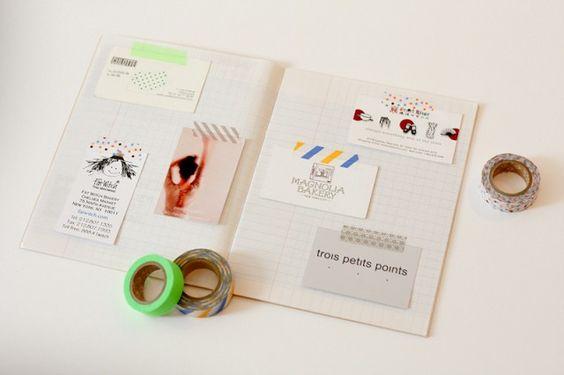 DIY - Un cahier pour cartes de visite