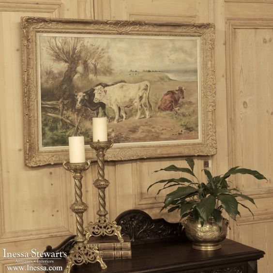 Antique Paintings | Antique Framed Oil Painting on Canvas | www.inessa.com