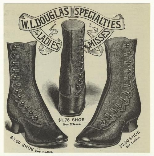 I'd wear those today. vintage victorian shoes: