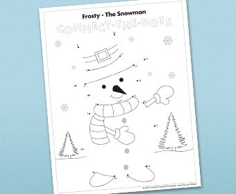 Winter Connect-the-Dots free printable