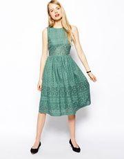 Приталенное платье миди с вышивкой ASOSPremium
