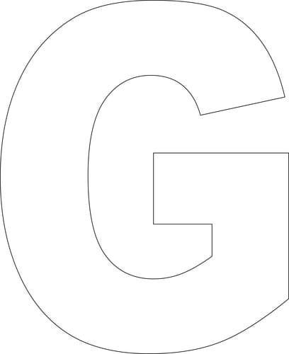 block letter g free printable g template school work free 25226