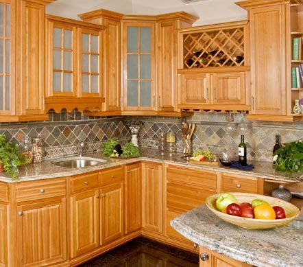 natural maple cabinets with granite - Google Search ... on Light Maple Kitchen Cabinets With Granite Countertops  id=92642