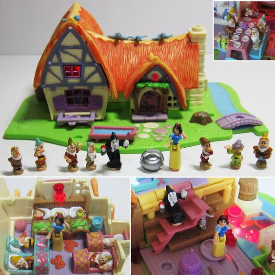 Polly Pocket Snow White and the Seven Dwarfs 100% complete Schneewittchen Haus . | eBay