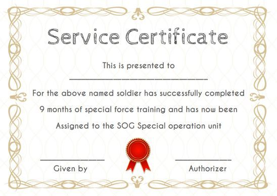 Certificate Of Service 20 Free Templates Word Pdf