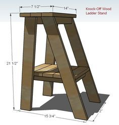 Ana White | Build a Super Easy but a Little Tricky Ladder Table Plans | Free and Easy DIY Project and Furniture Plans