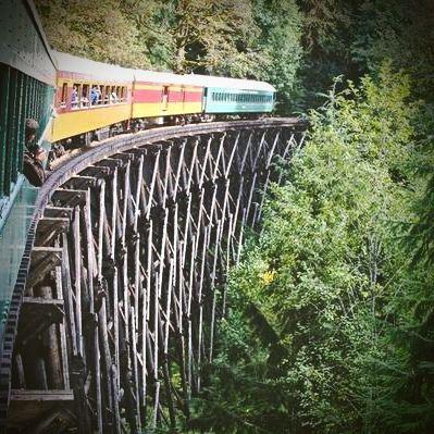 Mount Rainier Scenic Railroad in Elbe, WA
