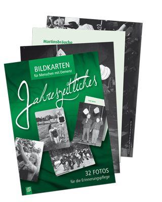 """Bildkarten für Menschen mit Demenz - Jahreszeitliches: 32 Fotos für die Erinnerungspflege ++ Beschäftigungsmaterial für Pflegekräfte in der Senioren- und Demenzbetreuung ++ 32 Bildkarten mit jahreszeitlichem Bezug, die Erinnerungen wecken + Großformatige Fotos aus den 1930er- bis 1960er-Jahren im A4-Format + Vielfältige Anregungen für Gespräche + Ideal als Ergänzung zu den """"5-Minuten-Vorlesegeschichten: Jahreszeitliches"""", aber auch unabhängig davon einsetzbar #Demenz"""