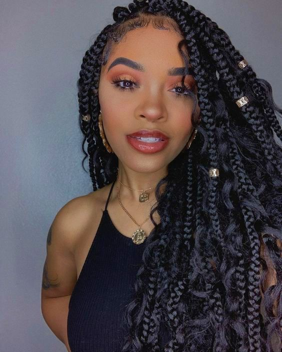 Huge 2020 Hairstyle List The 9 Hottest Trends To Be Obsessed With Ecemella In 2020 Box Braids Hairstyles For Black Women Braided Hairstyles Box Braids Hairstyles