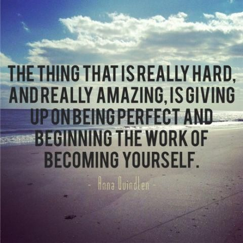 Stop trying to be perfect and just be the best version of yourself. #fitness #quote