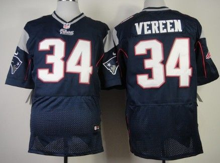 Nike New England Patriots #34 Shane Vereen Blue Elite Jersey | NFL ...