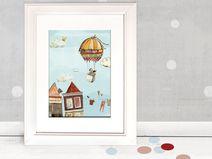 """Kinderbild """"Ballon""""  für´s Kinderzimmer (Poster)"""